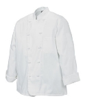 Chef Revival J050-2X Poly Cotton Chef Jacket, Cloth Knot, 2X