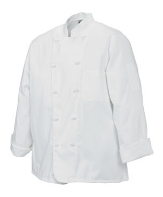 Chef Revival J050-L Poly Cotton Chef Jacket, Cloth Knot, Large