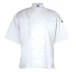 Chef Revival J057-M Luxury Cotton Cuisinier Chef Jacket, Short Sleeve, Medium