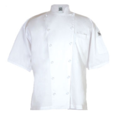 Chef Revival J057-XL Luxury Cotton Cuisinier Chef Jacket, Short Sleeve, X-Large