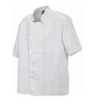 Chef Revival J105-M Twill Chef Coat, Double Breasted, Short Sleeve, White, Medium