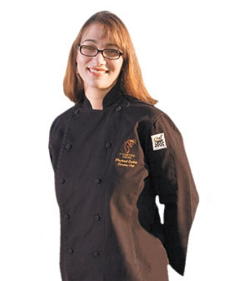 Chef Revival LJ025BK-XS Ladies Poly Cotton Cuisinier Chef Jacket, X-Small, Black
