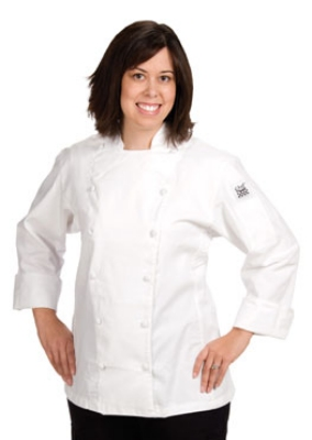 Chef Revival LJ025-L Ladies Poly Cotton Cuisinier Chef Jacket, Large