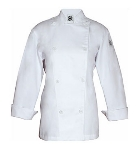 Chef Revival LJ028-2X Ladies Poly Cotton Traditional Chef Jacket, Cloth Knot, 2X