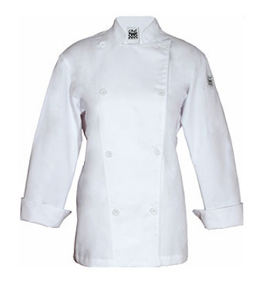 Chef Revival LJ028-L Ladies Poly Cotton Traditional Chef Jacket, Cloth Knot, Large