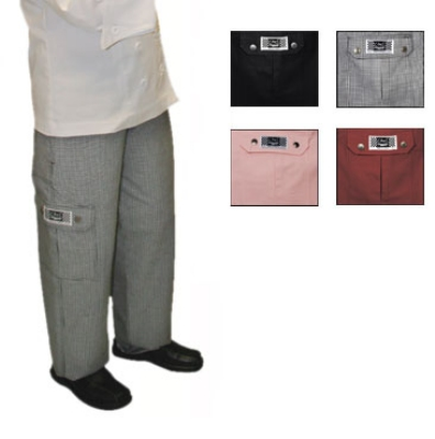 Chef Revival LP001HT-XL Ladies Cotton Cargo Chef Pants, X-Large, Hounds Tooth