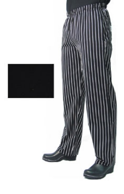 Chef Revival P014BK-L Poly Cotton Chef Pants, Slim Fit, Large, Black