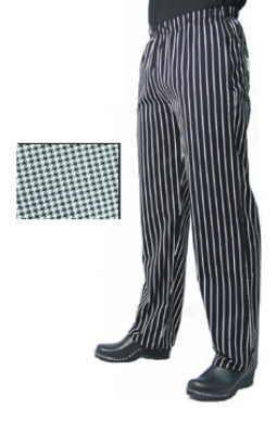 Chef Revival P015HT-L Poly Cotton Chef Pants, Slim Fit, Large, Hounds Tooth