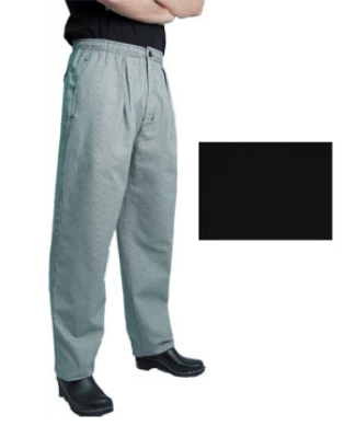 Chef Revival P017BK-4X Poly Cotton Executive Chef Pants, 4X, Black