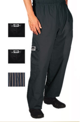 Chef Revival P024BK-5X Poly Cotton Cargo Chef Pants, 5X, Black