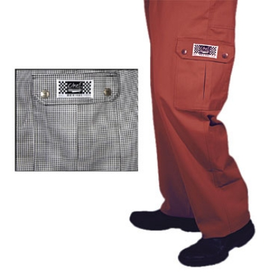 Chef Revival P023HT-M Cotton Cargo Chef Pants, Medium, Hounds Tooth