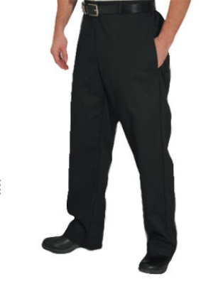 Chef Revival P034BK-M Poly Cotton Chef Trousers, Medium, Black