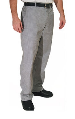 Chef Revival P034HT-L Poly Cotton Chef Trousers, Large, Hounds Tooth