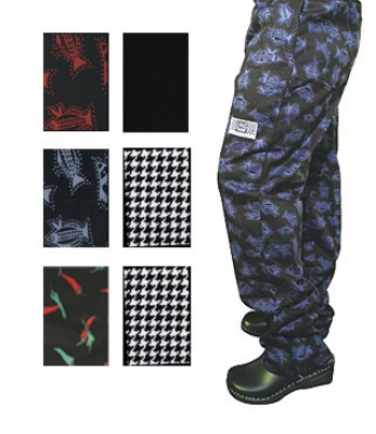 Chef Revival P040PP-L Cotton Chef Pants, Large, Pepper Print