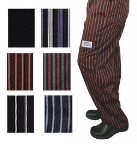 Chef Revival P040WS-XS Cotton Chef Pants, X-Small, Black/White Pin-stripe