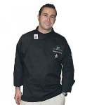 Chef Revival T004BK-3X Poly Cotton Executive Chef Tunic, 3X, Black