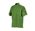 Chef Revival J020MT-3X Jacket w/ Cross Collar, Short Sleeves, Snap Button, Poly-Cotton, Mint, 3-XL