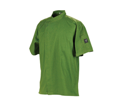Chef Revival J020SP-3X Jacket w/ Cross Collar, Short Sleeves, Snap Button, Poly-Cotton, Spice, 3-XL