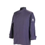 Chef Revival J113EPT-L Jacket w/ 3/4-Sleeves, Snap Button, Drop Shoulder, Back Yoke, Eggplant, Large