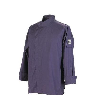 Chef Revival J113EPT-S Jacket w/ 3/4-Sleeves, Snap Button, Drop Shoulder, Back Yoke, Eggplant, Small