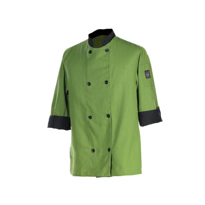 Chef Revival J134MT-3X Chef's Jacket Size 3X, 3/4-Sleeve, Mint w/ Black Trim