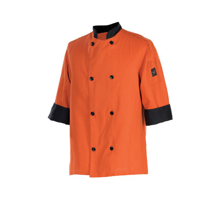 Chef Revival J134SP-L Chef's Jacket Size Large, 3/4-Sleeve, Spice w/ Black Trim