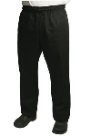 Chef Revival P020BK-L Chef Pants w/ 2-in Elastic Waist & 4-Pockets, Black, Large