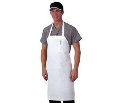 Chef Revival 600BAW-D Bib Apron w/ Pencil Pocket & Durable Self-Ties, 42 x 36-in, White