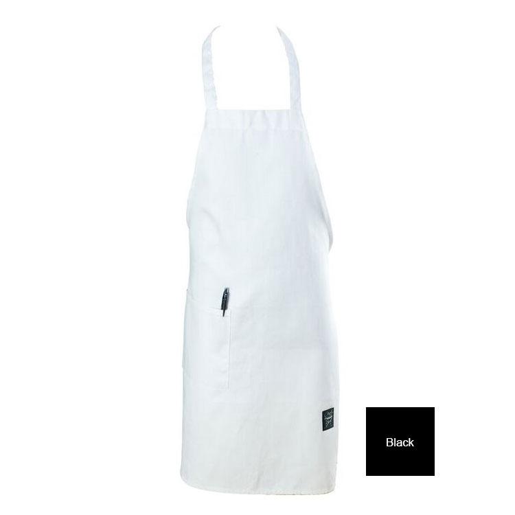 "Chef Revival 601BAC-BK Full Length Bib Apron, Blended Twill, 30 x 34"", Black"