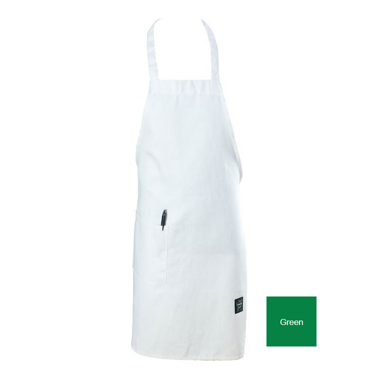 "Chef Revival 601BAC-GN Full Length Bib Apron, Blended Twill, 30 x 34"", Kelly Green"