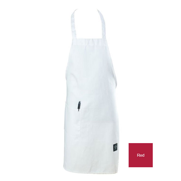 "Chef Revival 601BAC-RD Full Length Bib Apron, 30 x 34"" , Red"