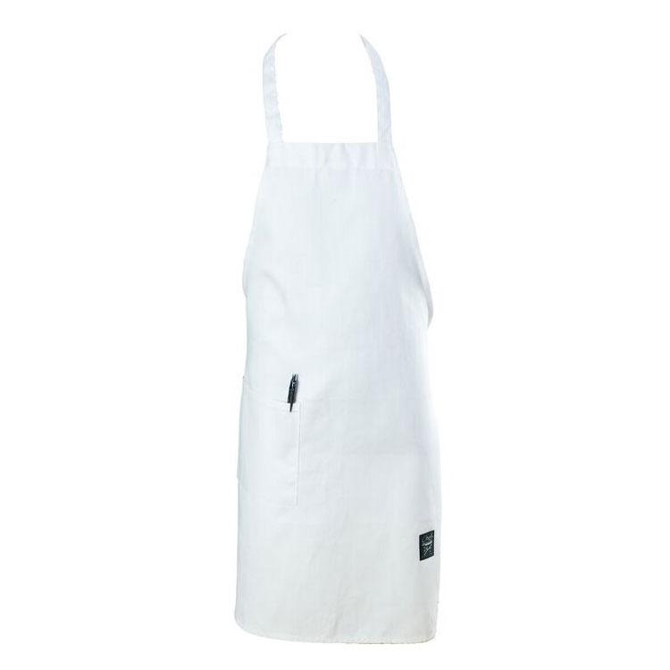 "Chef Revival 601BAC-WH Full Length Bib Apron, Blended Twill, 30 x 34"", White"