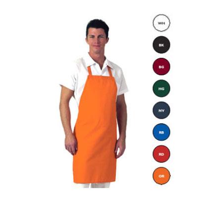 "Chef Revival 601NP-WH Twill Bib Apron, 28 x 34"", White"