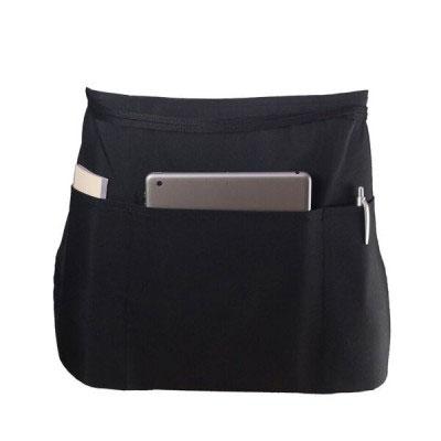 "Chef Revival 605PS-BK Waist Apron, Polyspun, 12 x 24"", 3 Pocket, Black"