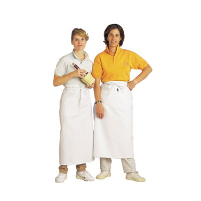 "Chef Revival 607BA Bistro Apron, Heavyweight Twill, 33 x 30"", X-Long Ties, White"