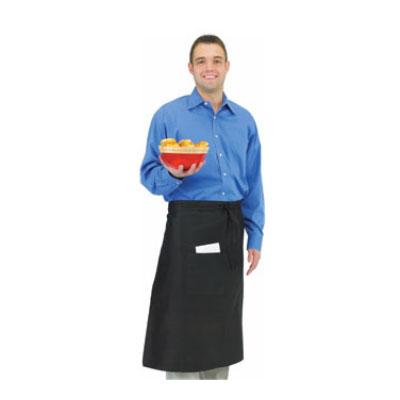 "Chef Revival 607BA-BK Bistro Apron, Heavyweight 50/50 Twill, 30 x 33"", Black"