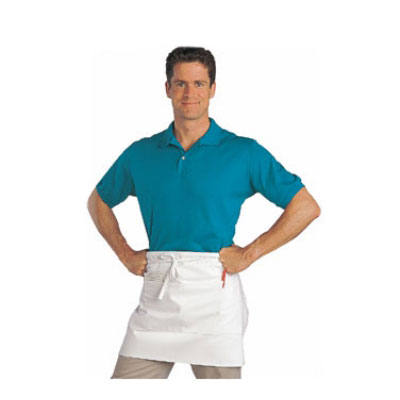 "Chef Revival 607HBA2-WH 1/2-Size Bistro Apron, Heavyweight 50/50 Twill, 28 x 19"", White"