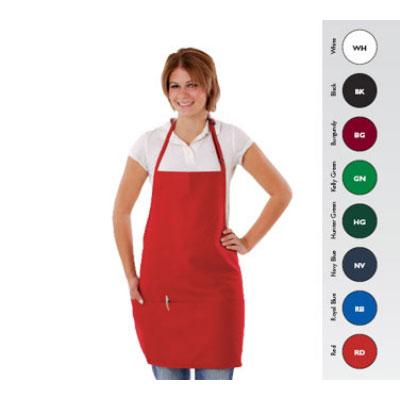 "Chef Revival 612BAFH-HG Bib Apron, 28 x 27"", 3 Pocket, Adjustable Neckband, Navy Blue"