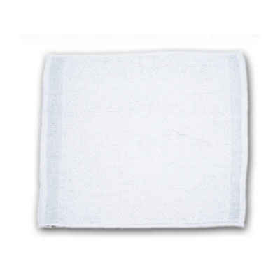 "Chef Revival 700BRT32 White Ribbed Cotton Bar Towel, 16"" x 19"""