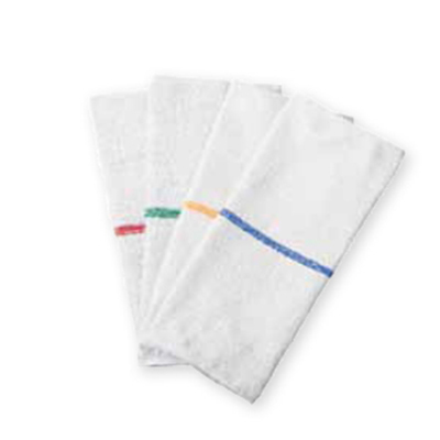 "Chef Revival 700BRT-RDS Bar Towel - 16x19"" White with Red Stripe"