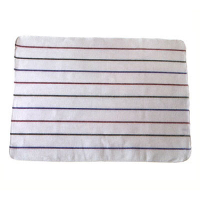 """Chef Revival 703HB28 White Terry Cloth Towel w/ Multi-Colored Strips, 20"""" x 28"""""""