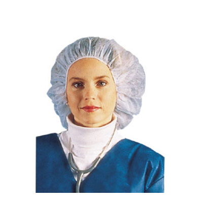 """Chef Revival BCAP110CB Bouffant Cap Hairnet, 24"""", Lint-Free, Flame Resistant, Blue"""