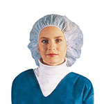 "Chef Revival BCAP110CW 24"" Bouffant Hair Net - Polypropylene, White"