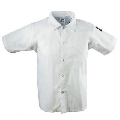 Chef Revival CS006WH-3X Chef's Shirt w/ Short Sleeves - Poly/Cotton, White, 3X