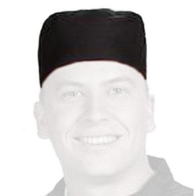 Chef Revival H008-R Chef Pill Box Hat, Regular, Poly Cotton Blend, Black