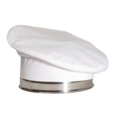 Chef Revival H036WH Chef Beret, Poly Cotton Blend, One Size, White