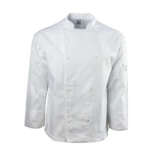 Chef Revival J002-7X Chef's Jacket w/ Long Sleeves - Poly/Cotton, White, 7X