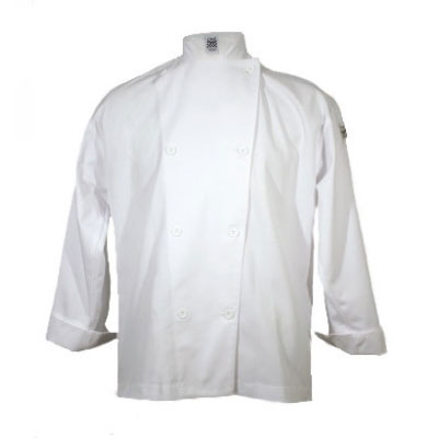 Chef Revival J003-L Poly Cotton Blend Chef Jacket, Cloth Knot, Large