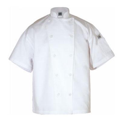 Chef Revival J005-M Poly Cotton Blend Chef Jacket, Short Sleeve, Medium