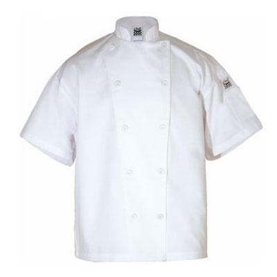 Chef Revival J005-S Poly Cotton Blend Chef Jacket, Short Sleeve, Small